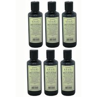 Hair Shampoo - Herbal - Amla & Bhringraj Shampoo - Combo Pack Of 6 - By Khadi