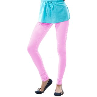 Dollar Missy Light Pink Cotton Churidar Leggings