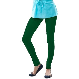 Dollar Missy Rama Green Cotton Churidar Leggings