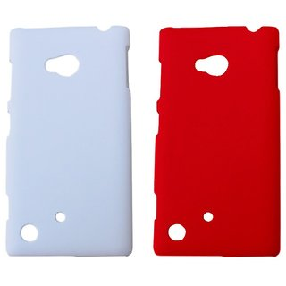 Winsome Deal Mobile Back Cover For  Nokia  Lumia 720 NKLUM720CWHI&RED available at ShopClues for Rs.175