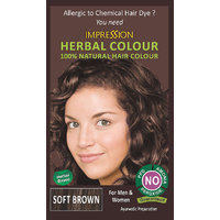 IMPRESSION 100% NATURAL HERBAL HAIR COLOUR-SOFT BROWN
