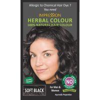 IMPRESSION 100% NATURAL HERBAL HAIR COLOUR-SOFT BLACK