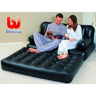 Bestway Portable Inflatable 5 In 1 Sofa Cum Bed Air Lounge
