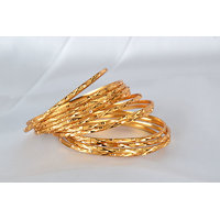 Gold Plated Bangle With Crystal Glass Beads With Austrian Diamond By Ratnam
