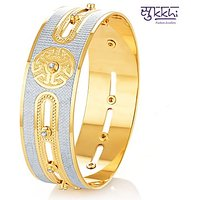 Sukkhi Exquitely Crafted Gold & Rhodium Plated Dancing Cz Stone Kada