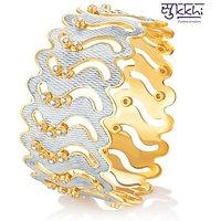 Sukkhi Marvellous Gold & Rhodium Plated Dancing Cz Stone Kada