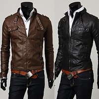 P014 - Italiano TUCCI Vintage Slim Fit Semi Leather Jacket