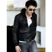 P011 - Italiano Tucci Vintage Hoodie Slim Fit Semi Leather Jacket