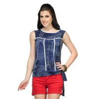 Yepme Women's Abilene Navy White Polka Top