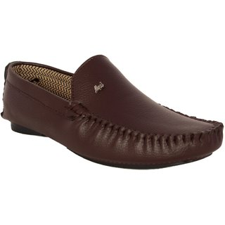 Shoeadda Casual Loafers Cum Driving Shoes Brown