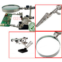 --Helping-Third-Hand-Clamp-Magnifier-soldering-Stand-5x-Magnifying-Glass