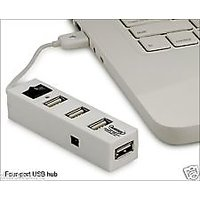 New Quantum 4 Port USB 2.0 Hub With Switch And With 6 Months Warranty