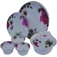 Czar Dine Smart Opal 22 Pcs Dinner Set -Pink Flower