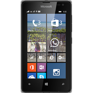 Microsoft Lumia 532 (Black, 8 GB)