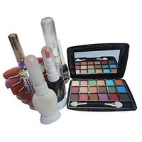 Combo Pack Of 24 Color, Eye Shadow, 2 Nail Art, Eye Liner, Lip Color Platter