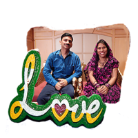 Love Wooden Photo Frame (Jelly)