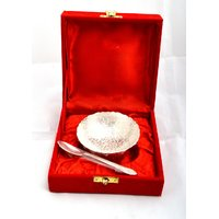 German Silver Plated Bowl With Spoon - 78503356