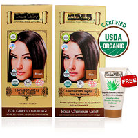 Indus Valley Organic Botanical Hair Colour Indus Black Kit (Set Of 2) - 78548304