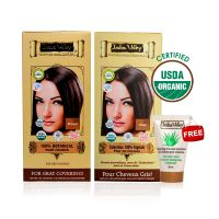 Indus Valley Organic Botanical Hair Colour Indus Brown Kit (Set Of 2) - 78556704