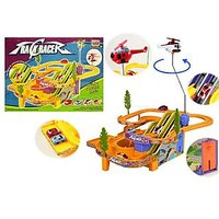 Track Racer Toy Game Set With 4 Racing Cars