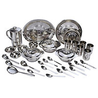 7 Days 51 Pcs Stainless Steel Dinner Set