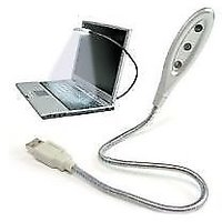 Flexible 3 LED USB Light Lamp For Laptop Notebook PC