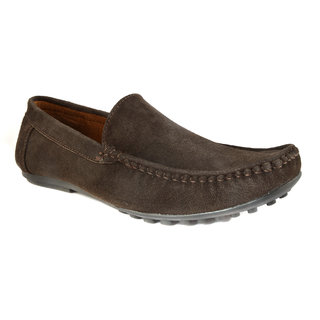 Summer Brown Leather Slip-On Casual Loafers