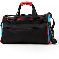 Bonanza Travel Bag  Black With T-blue