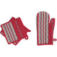IRIS INNOVATIONS Cotton Multicolour  Glove and Pot Holder Set