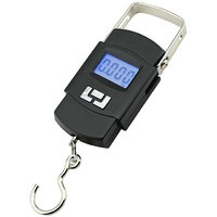 Portable Hanging Kitchen Weight Weighing Scale 50Kg Digital LCD Pocket Tare