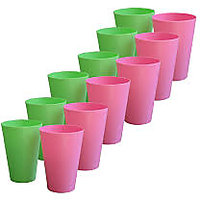 Colourful Plastic Glasses ( Set Of 12)