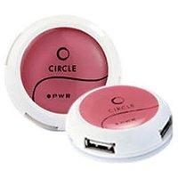 Circle 4 Port USB Hub Rootz 4.2 Pink