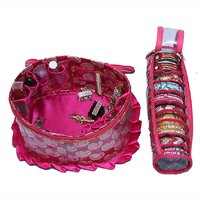 Make Up Kit & Single Bangle Box In Brocade 2 Pcs Combo (KI5212)