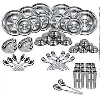 51 Pcs. Steel Dinner Set