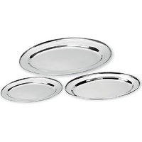 Combo Of 3 Pcs Oval Tray Set With Free Egg Cutter