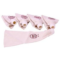 Noor Cake Decoration Cotton Icing Bag 25Cm Set Of 5 Reusable S1, Cream