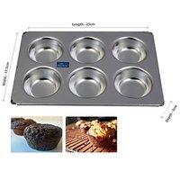 Rolex Aluminium Muffin Bakeware Tray Aluminium Muffin Bakeware Tray 6 Cavity