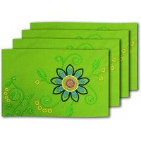 MeSleep Green Flower Table Mats (MAT-01-02)