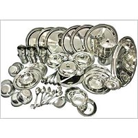 RBJ Dinner Set 51 Pcs Silver Touch Premium Quality Mirror Finish