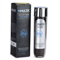 Majik Hair Building Fiber Natural Black 54G With Free Bonding Spray,Hair Shiner,Optimizer Comb And 3D Mirror