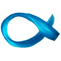 Majik Baby Hair Extension Neon Blue Color With Clip In Straight Piece