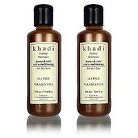 Khadi Natural Herbal Henna Tulsi Extra Conditioning Shampoo- Sls & Paraben Free