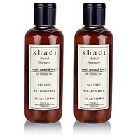 Khadi Natural Woody Sandal & Honey Herbal Shampoo - Sls & Paraben Free - 210ml (