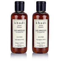 Khadi Natural Woody Sandal & Honey Herbal Shampoo - Sls & Paraben Free - 210ml (