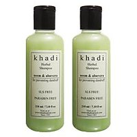 Khadi Natural Neem & Aloevera Herbal Shampoo- Sls & Paraben Free - 210ml (Set Of