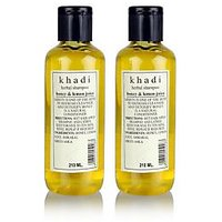 Khadi Natural Herbal Shampoo With Honey & Lemon Juice - 210ml (Set Of 2)