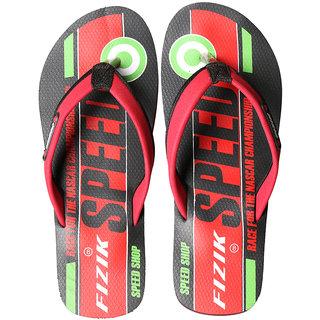 FIZIK Men's Flip Flop Black-Red (Speed-4)