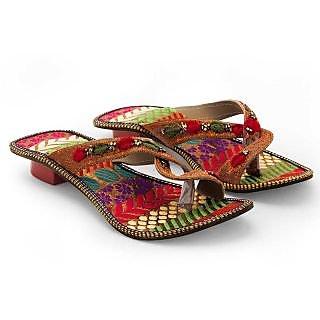 Women Fancy Design Comfortable High Heel Chappal 337 {Size:6}