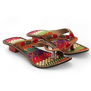 Women Fancy Design Comfortable High Heel Chappal 337 {Size:7}