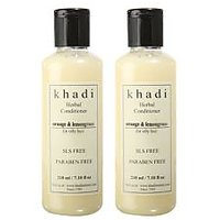 Khadi Natural Herbal Orange Lemongrass Hair Conditioner- Sls & Paraben Free - 21